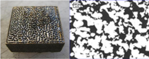Images of porous cube and a qphase measurement.